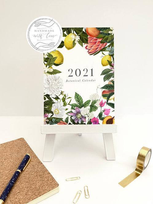 Botanical Calendar | Calendar | 2021 | British Flowers | Wall Calendar