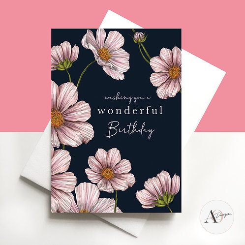 Happy Birthday | Botanical | Florals | Hand Finished | Gifts | Bday