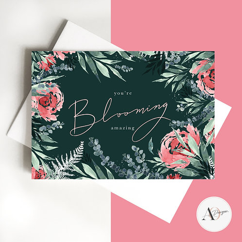 You're Blooming Amazing | Greetings Card | Bday | Birthday Card | Thank You