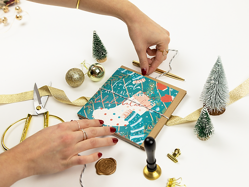 Assorted Christmas Cards | Pack of 6 | Retro