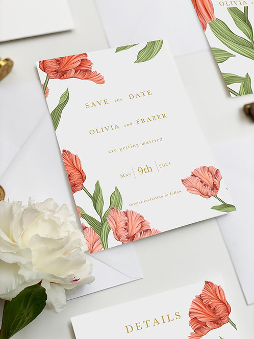 A5 Save The Date - Tulip
