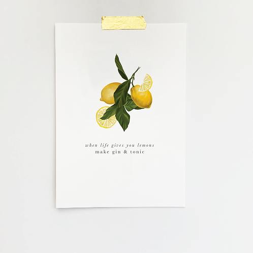 When Life Give you Lemons | Gin & Tonic | Cocktails | Gin Lovers | Lemon