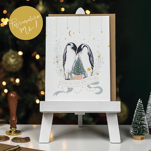 Personalised Christmas Card Pack   Christmas   Greetings cards   Penguins