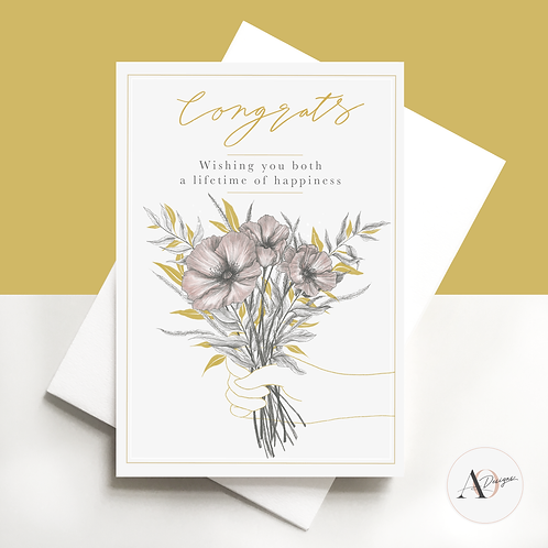 Congratulations | Wedding | Engagement | Greetings Card | Wedding Day | Handmade