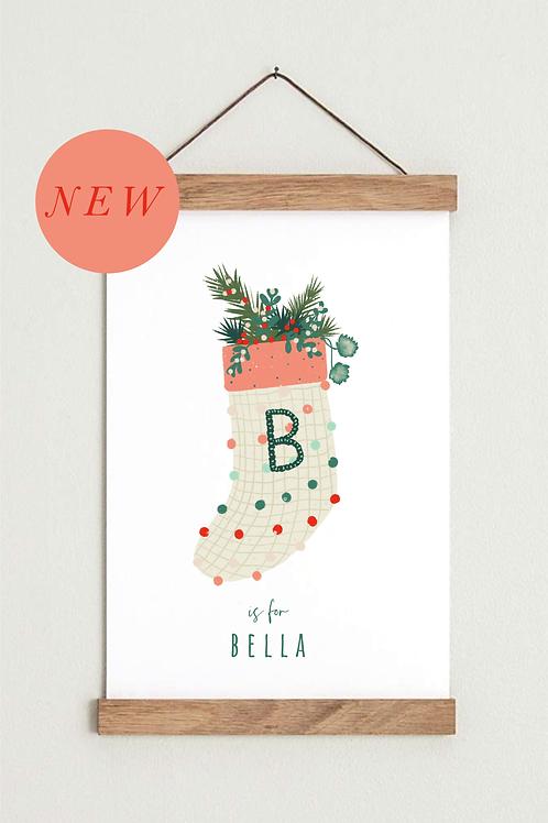Christmas Gifting | Custom | Personalised Print | Kids Interiors | Stocking Fill