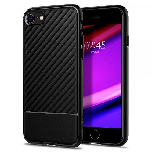 Калъф силикон Spigen Core Armor /черен/ за iPhone 12 / 12 Pro 6.1