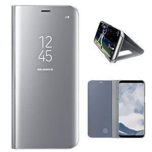 Калъф тефтер Clear View /Сребърен/ за Samsung S10 Lite / A91