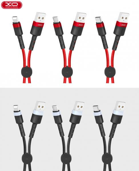XO Lightning (iPhone) USB Кабел (25см..) 2.1A XO-NB117 / Черен /