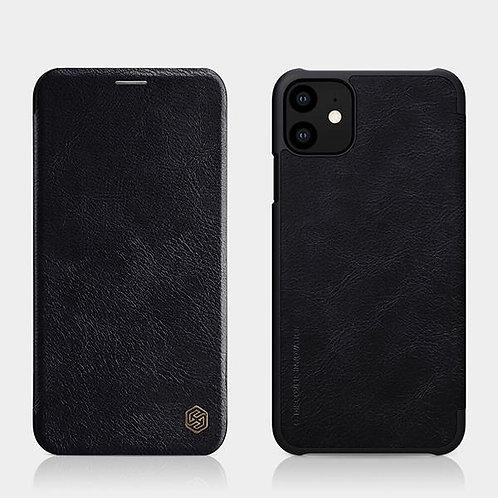 Калъф тефтер Nillkin Qin /Черен/ за iPhone 12 / 12 Pro 6.1