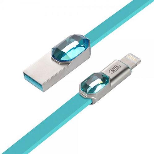 XO Lightning (iPhone) USB Кабел 2.4A XO-NB23 / Син /