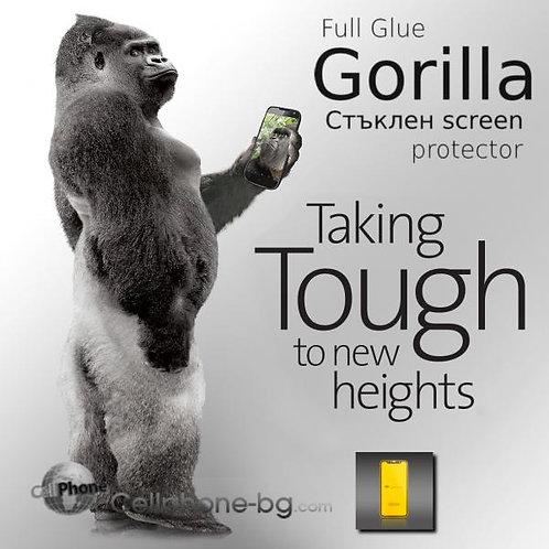 Full Glue Gorilla Стъклен screen protector /Черен/ за LG K50S