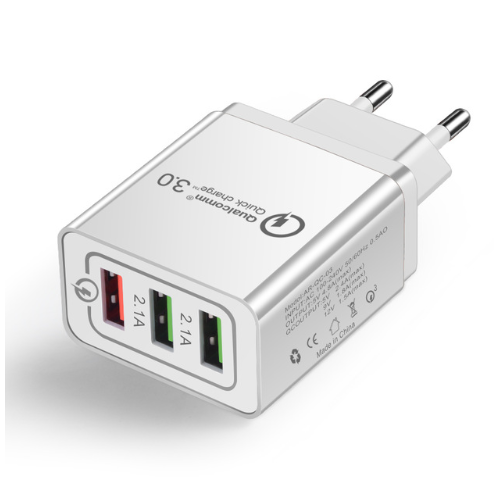 ЗАРЯДНО SPEDCRD 3 PORTS QUICK CHARGER QC 3.0 30W USB FAST CHARGER