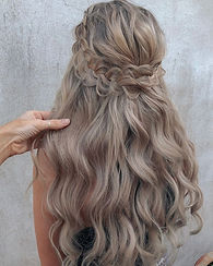 This is all her hair, total hair goals!