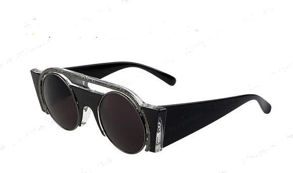 SZ3 - Wide sided Gloss Black sunglasses