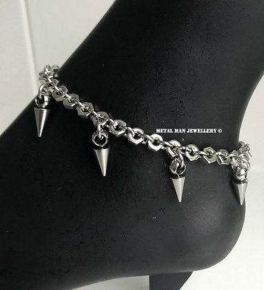 ASP - Spike and hex nut anklet
