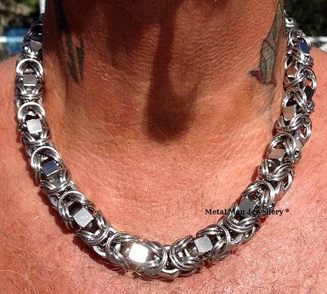 """BY11  -  Byzantine 3/8 """" hex nut necklace"""