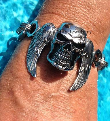 SW11  Skull and Wing Bracelet