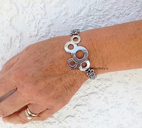W3 - Brazed washer and hex nut bracelet