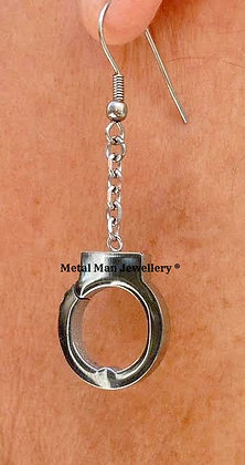 EC1 - All stainless steel handcuff earrings