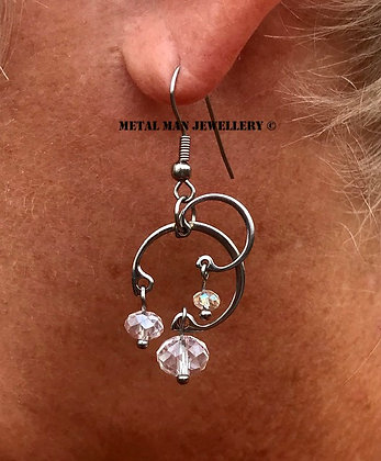EZ25 - Retaining ring and bead earrings