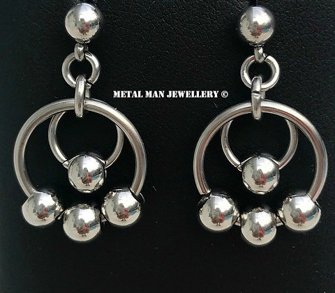 EB - Ball and Ring Earrings