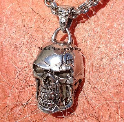 Large Stainless Steel Skull