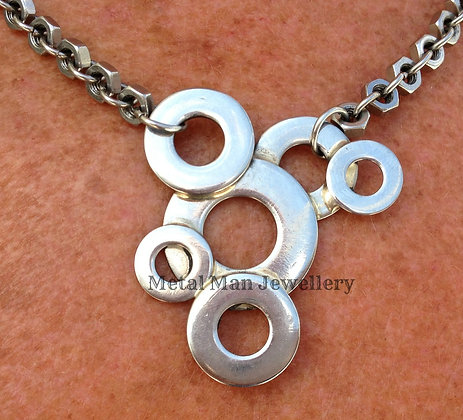 BM- Washer and Hex Nut Necklace