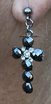 EZ34 - Bead cross post earrings