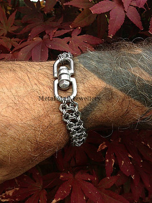 SWE3 - 2 strand M4 hex nut and eye swivel bracelet
