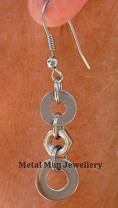 EA - Washer and nut earrings