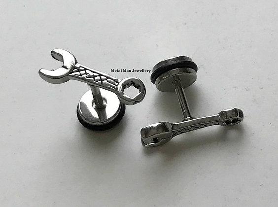 EZ31 - Spanner post earrings