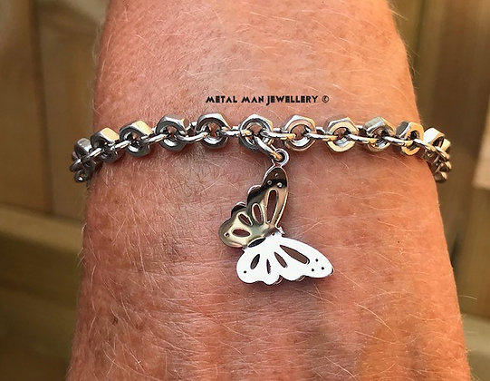 ABB - 3D butterfly on a hex nut bracelet