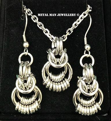 RINGS -Rings on Rings Necklace & Earrings Set