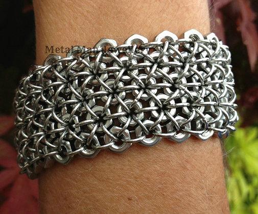 C2 - M4 5 Strand Hex Nut Bracelet