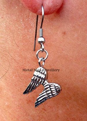 EB1 - Angel wings hook earrings