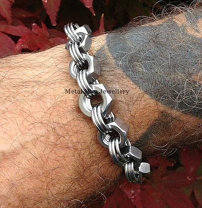 N11 - Multi Size Hex Nut Bracelet