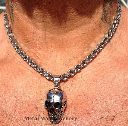 "SC2 -  22"" Hex Nut Chain and Medium Skull"