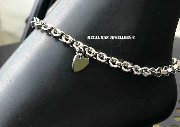 AH - Heart ankle chain