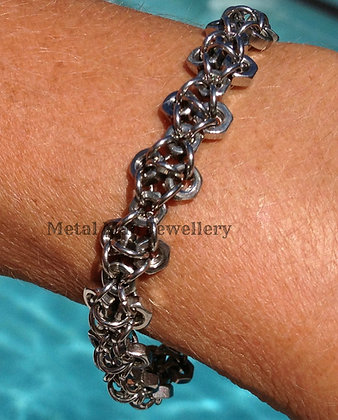 F1 - M3 Patterned Hex Nut Bracelet