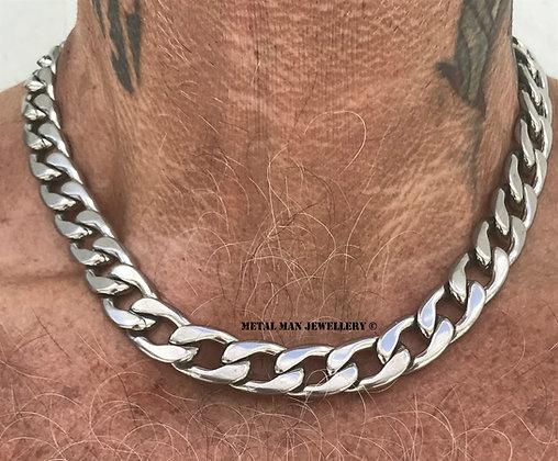 CUR - Fancy curb link necklace