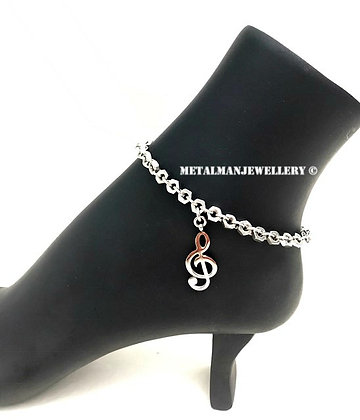 AC - Clef ankle chain