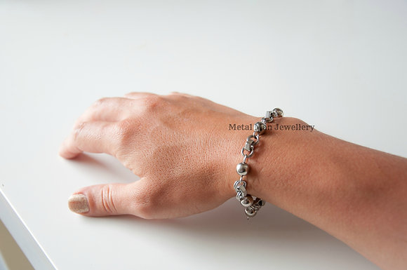 B1 - Hex Nut and Ball Bracelet