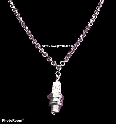 SPA - Spark Plug pendant on an M3 hex nut chain