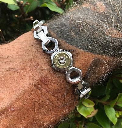BU10 - Bullet end cap on M8 lock nut bracelet
