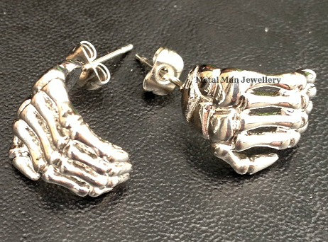 EZ14 - Skeleton hand Stud Earrings
