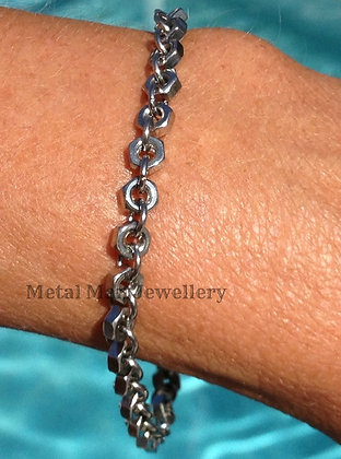 N3 - M3 Single Ring Hex Nut Bracelet