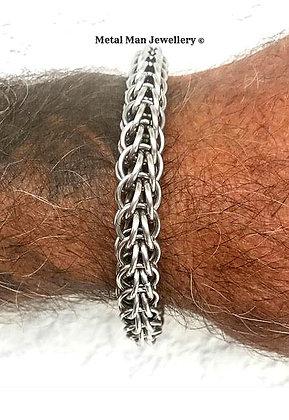 CM3-15mm diameter full Persian chainmaille bracelet