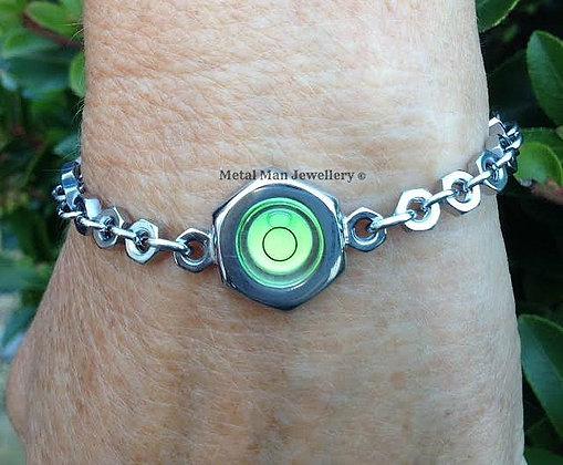 LR1 - Round level on M3 hex nut bracelet