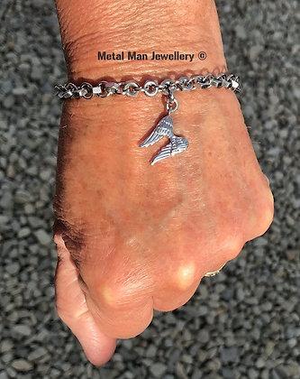 WAB - Angel wings on an M3 hex nut bracelet