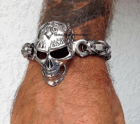SKBY -Skull and Byzantine bracelet - special order